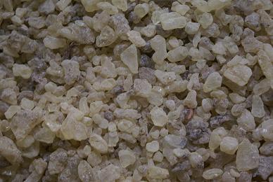 Dammar resin crystals ABC