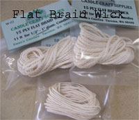 Flat Braid Wicks